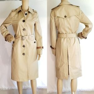 Brand New Coach Long Trench Coat Khaki MSRP $650